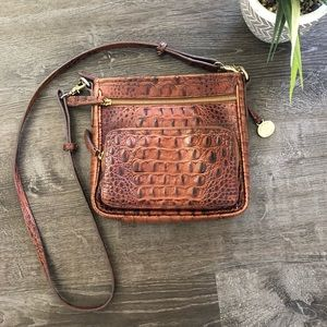 Brahmin Pecan Cross Body Bag Purse